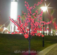 Outdoor decorative LED cherry blossom tree, red LED tree for sale
