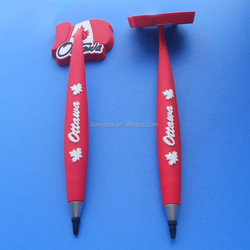 canada gifts pvc ball pens with flag, 3D canada maple ball pens wholesale