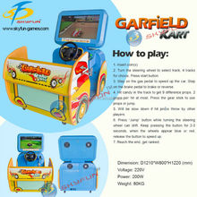 High quality children racing game machine family go kart for retail