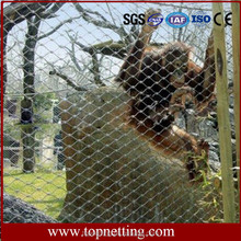 Hot sale stainless steel wire rope mesh/stainless steel wire rope mesh net/zoo fencing/zoo mesh