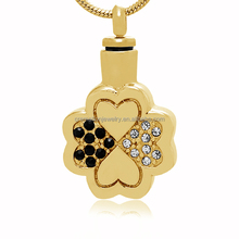 Stainless Steel Pendant Laser Beautiful Flower Heart Jewelry Cremation Pendant For Ashes