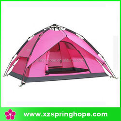 Luxury family camping tent/new products pink camping tent