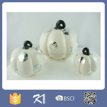 Halloween party supplies porcelain artificial white pumpkin for sale