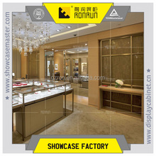 A jewelry store cupboard with 304# stainless steel and low iron tempered glass led power cree chips