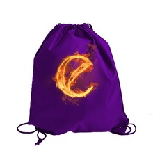 Promotional Jute Suede Canvas Printing Backpack Drawstring Bag