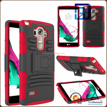 best selling products 3 in 1 Holster Silicone + PC Hybrid Heavy Duty Kickstand Belt Clip Case for LG G Vista 2 phone accessories
