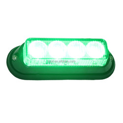 10-30v green led warning strobe light for police motorcycle, surface mount, waterproof
