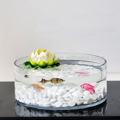 Round fish shaped decorative wholesale glass fish bowl for Fish bowls in bulk