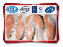 Frozen salmon fish steak