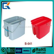 New design B-041towel mop plasitic twin bucket with tilt
