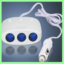Special waterproof 12V DC car smart power adapter USB cigarette lighter with switch socket usb controlled power socket
