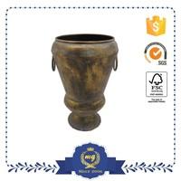 Beautiful Large Decorative Flower Metal Pots
