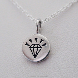 2015 best selling silver diamond Crown,silver Crown necklace,Crown Charm pendant