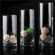 Tall Slim Clear Cylinder Glass Vases for Decration