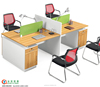 melamine wooden 4 seats office table and elegant design style for staff office desks
