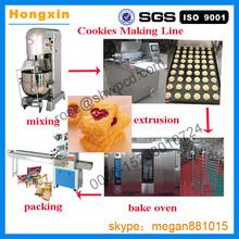 Plc de acero inoxidable multifuncional automático de galletas de la fortuna y galletas que hace la máquina