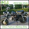Black 110cc CE Dirt Bike Fashion Monkey Bike
