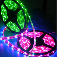 CE &RoHS waterproof flexible SMD 5050 LED strips light 30leds purple/green
