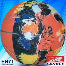 Official size & weight kids natural rubber basketball