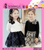 Europe Fashion Grid Pattern Cotton Lace Dress Hot Selling One Piece Casual 2015 Children Dress