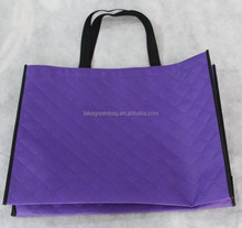 Purple eco non woven handle shopping bag