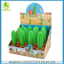 Wholesale customized lovely cacti shape promotional plastic ball pen