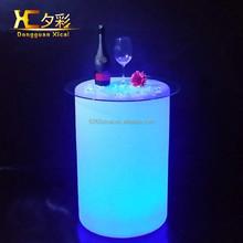Caliente venta brighting favor de partido colorido led iluminado café muebles mesa