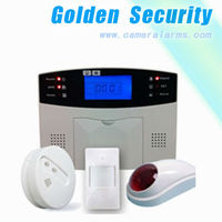 Gsm wireless home burglar security alarm system with LCD display &GSM sim card network&99 wireless defense zones