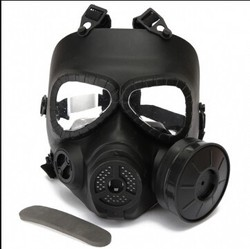 Tactical Airsoft Paintball Face Mask Protection Full Face Mask with Goggle