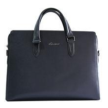 Genuine Leather Men's Business Handbag Messenger Bag Fit 14 Inch Laptop