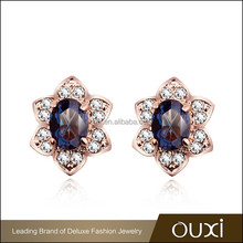 2015 OUXI new arrival manufacturer earing made with CZ stone 20866-2
