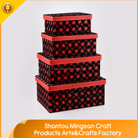Custom material fabric decorative storage boxes for kids wholesale