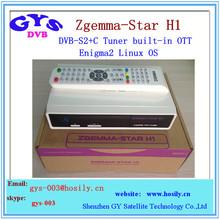 Enigma2 Zgemma Star H1 HD satellite tv receiver DVBS2+C Tuner built-in OTT zgemma star h1 sat decoder with internet connection