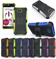 Premium Heavy Duty Rugged Case Hybrid With Stand Cover For LG L90 D405