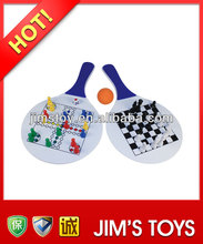 2014 New Promotional item funny tennis rackets with Chess plastic beach rackets set