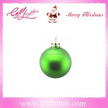 christmas tree decoration green glass ball,matt shiny glass christmas ball for tree hanging decoration
