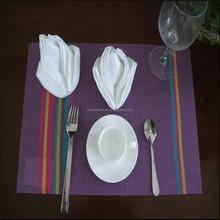 100% cotton white jacquard textured table napkin