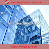exterior wall glass cladding building