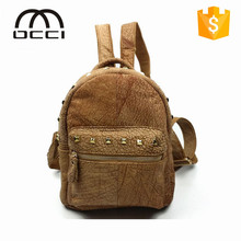 2015 new products fashion trend backpack genuine leather women backpack QY1255