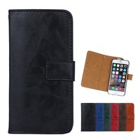 fashion design detachable wallet mobile phone leather case for iphone 6