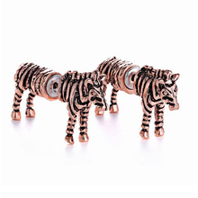 Fashion zebra shaped piercing stud earring,cute animal earrings for fashion girls