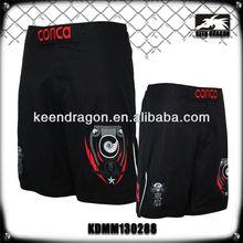 2013 new short polyester/spandex black martial art mma