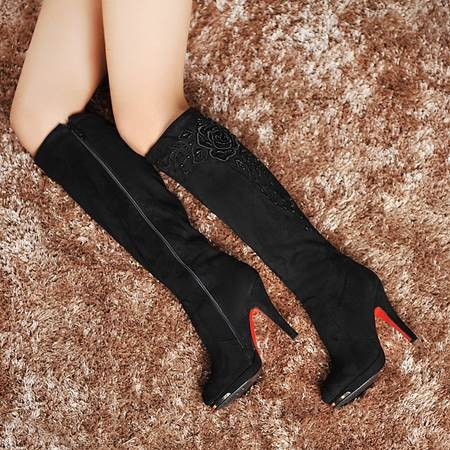 AISIMI 2015 New Arrive Fashion Boots Sexy Lady Shoes High Heel Knee Bo