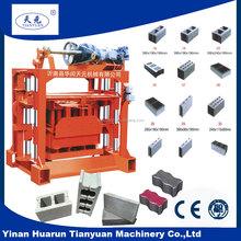 QTJ4-40 electric brick making machine and hollow concrete blocks making business plan