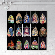 Hand Made Oil Paintings on Real Pipal Leaves