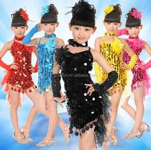 Enfants Ballet Samba Salsa salle de bal de la scène danse vêtements Costumes enfants robe de danse latine pour les filles
