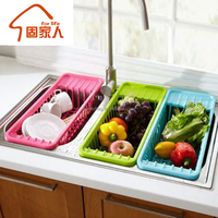 Wholesale plastic storage rack sink wash rack for Fruit/Vegetable
