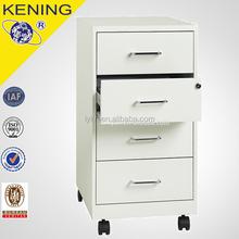 Metal 4 Drawer Mobile Pedestal/Mobile File Cabinet