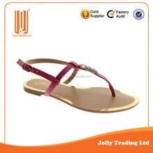 Lastest fashion girls design lady sandal shoes flat shoes girl stylish footwear