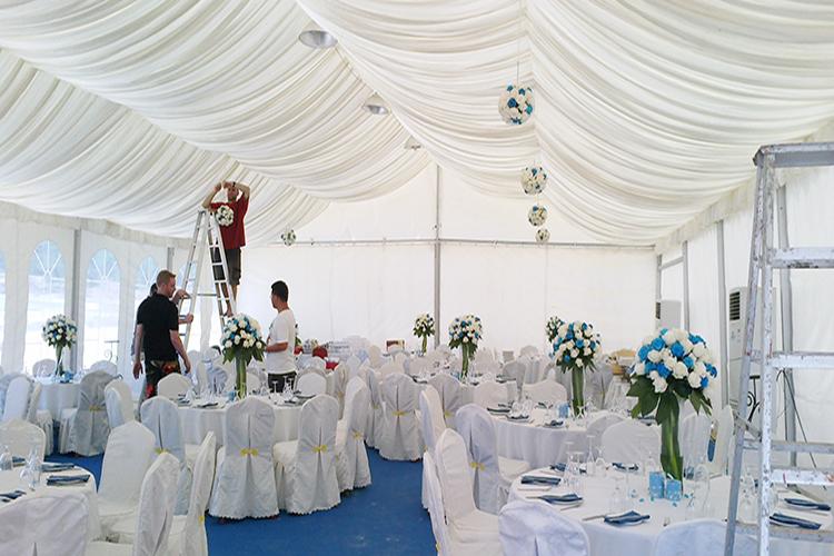Outdoor wedding ceremony tent 200 seats